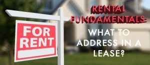 What to Address in a Lease