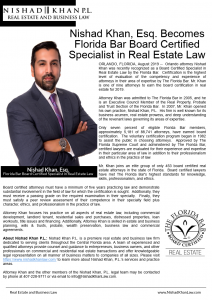 Certified specialist in Real Estate Law