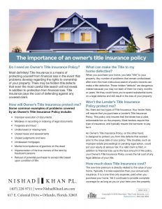 owner title insurance